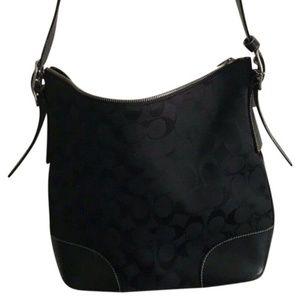 COACH Black Jacquard Crossbody Bag